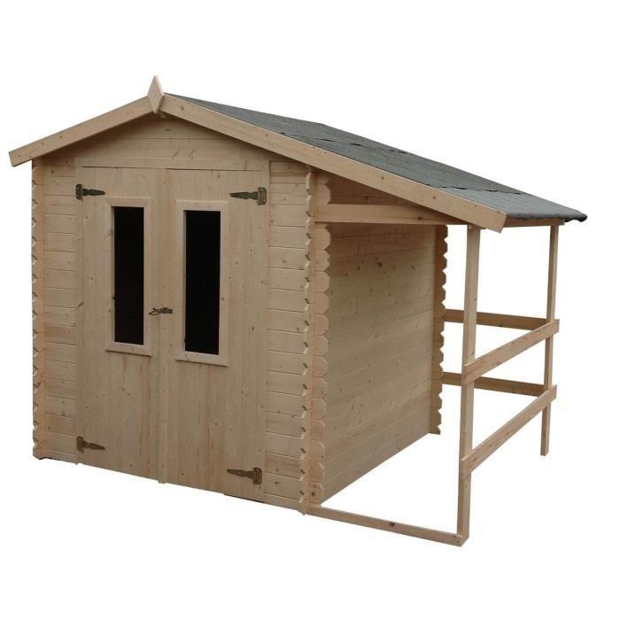 Abri en bois 2 05 m x 2 93 m avec bucher eldorado abrirama l 39 abri de - Abris de jardin m x m en bois aulnay sous bois ...
