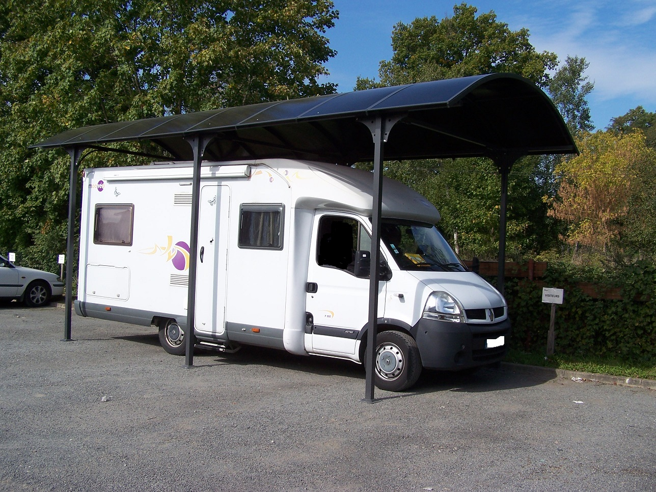 carport camping car en aluminium 3 60x7 60m 27 m2 abrirama car3676alcc l 39 abri. Black Bedroom Furniture Sets. Home Design Ideas