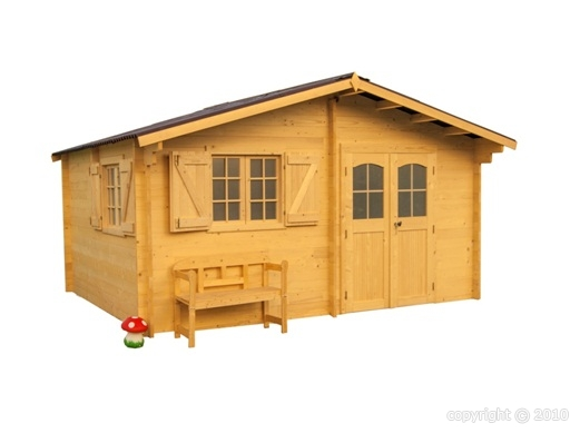 Abri jardin bois nancy lorraine 5 15x4 44m sans for Abri de jardin pas cher 10m2