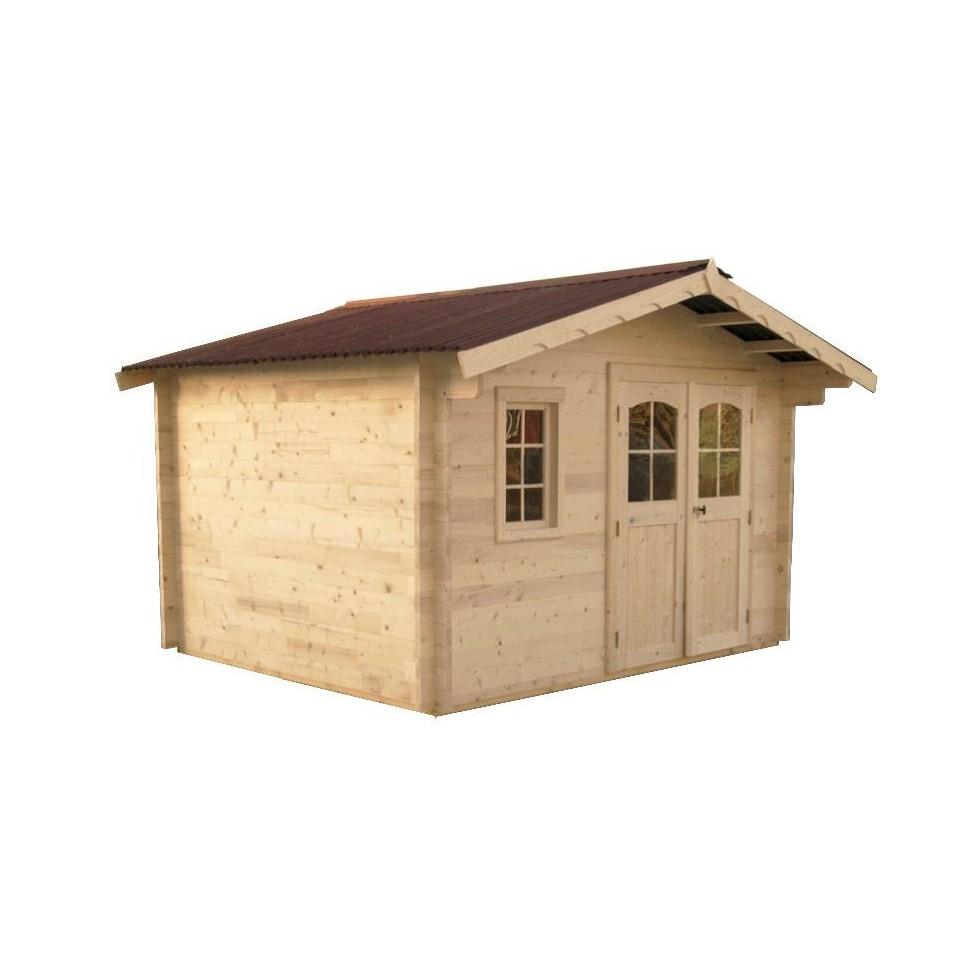Abri de jardin en bois nancy x 3 m paisseur 42mm for Abri jardin bois 20m2