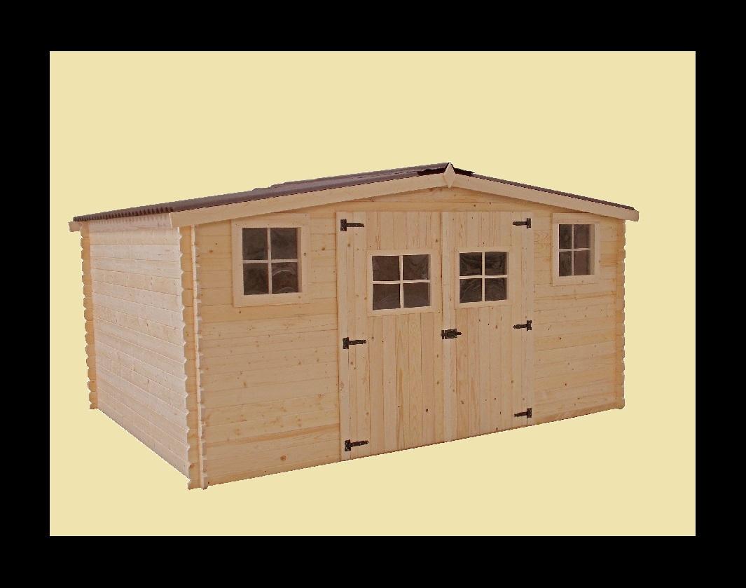 Abri jardin bois bali 4x3 04m 12m2 sans plancher abrirama for Abri de jardin pas cher en bois