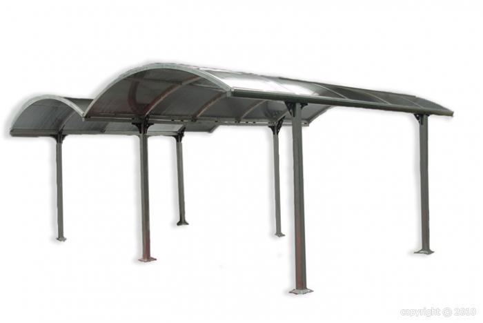 Abri voiture carport double en aluminium 29m2 - Carport double alu ...