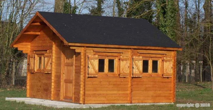 Abri jardin bois chalet magny 5x6 m 30m2 sans plancher for Abri de jardin 15m2