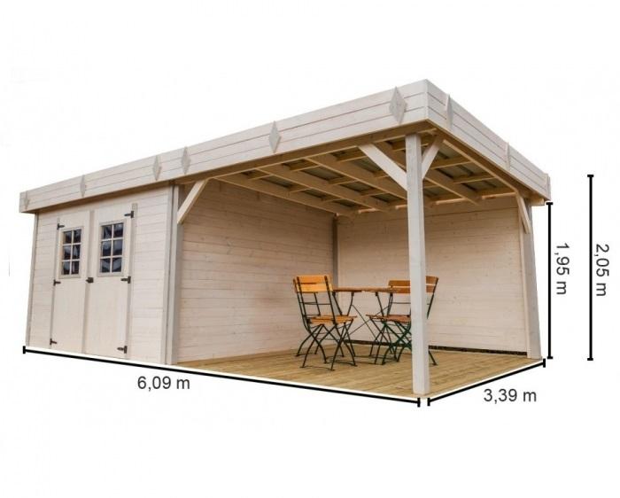 abris de jardin avec pergola. Black Bedroom Furniture Sets. Home Design Ideas