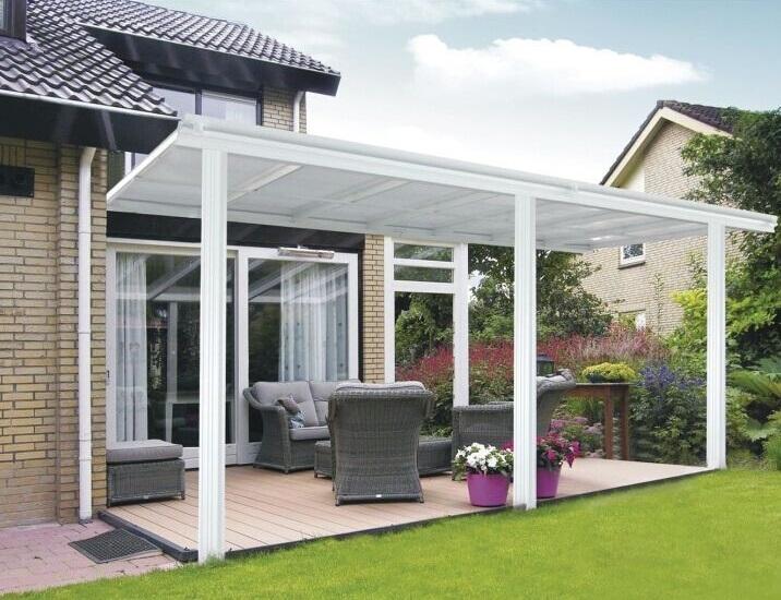 Beliebt Bevorzugt Toit terrasse pergola 5x3 m en aluminium blanc &BV_07