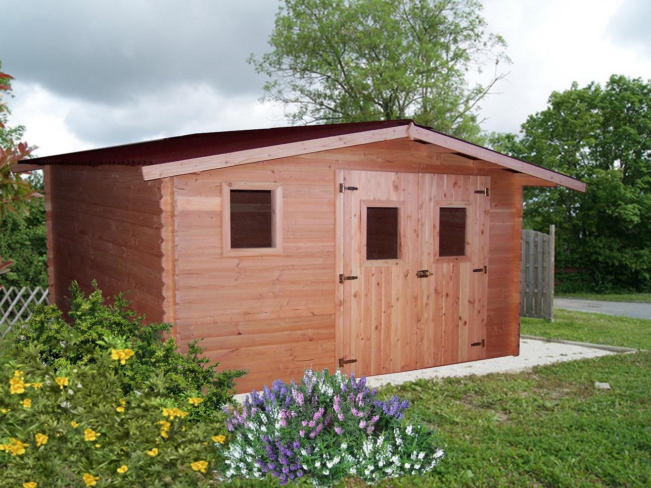 Abri de jardin 4x4 m en bois douglas oregon abrirama - Abris de jardin m x m en bois aulnay sous bois ...