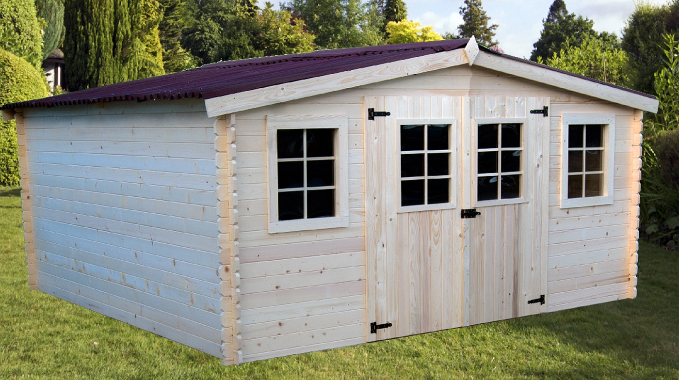 abri jardin bois Bandol 4,16x4,04m 17m2 sans plancher