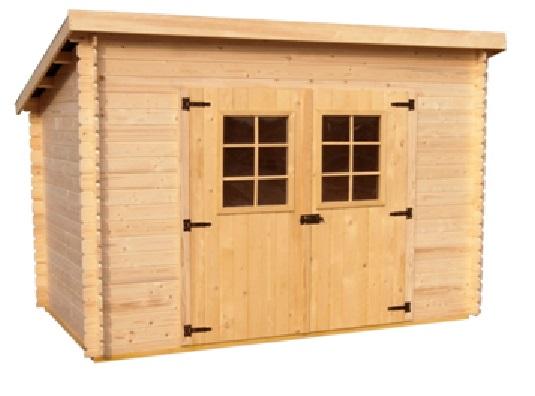 Abri de jardin en bois charente 3x2 m sans plancher - Abri de jardin bois monopente ...