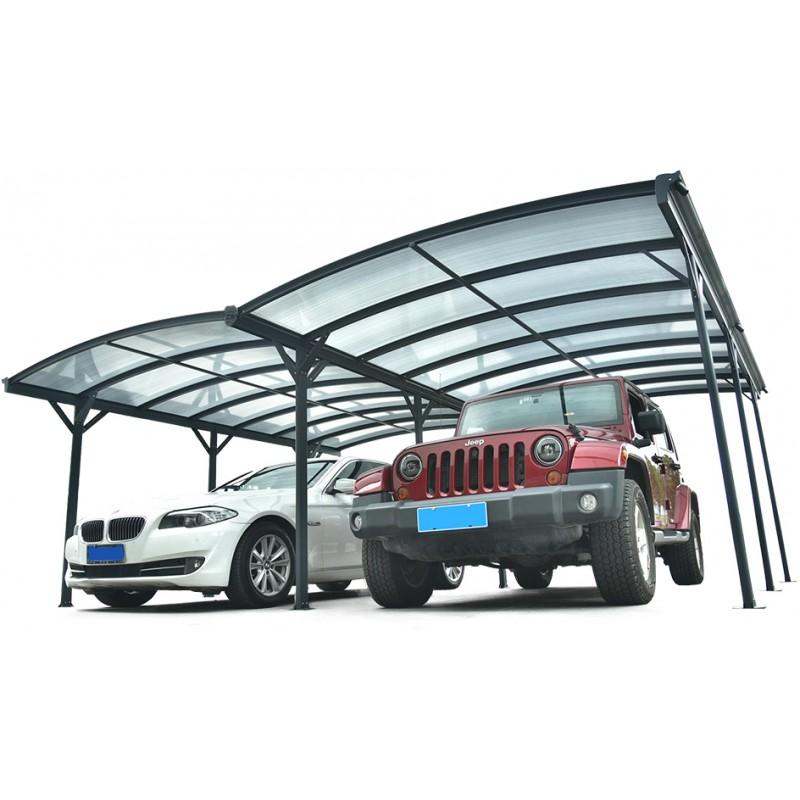 carport double en aluminium 5 05x6m 30m2 abrirama p447 abris de jardin en bois abrirama. Black Bedroom Furniture Sets. Home Design Ideas