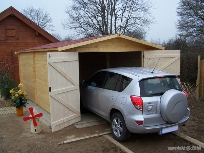garage bois dorna 21m2 abrirama do3554. Black Bedroom Furniture Sets. Home Design Ideas
