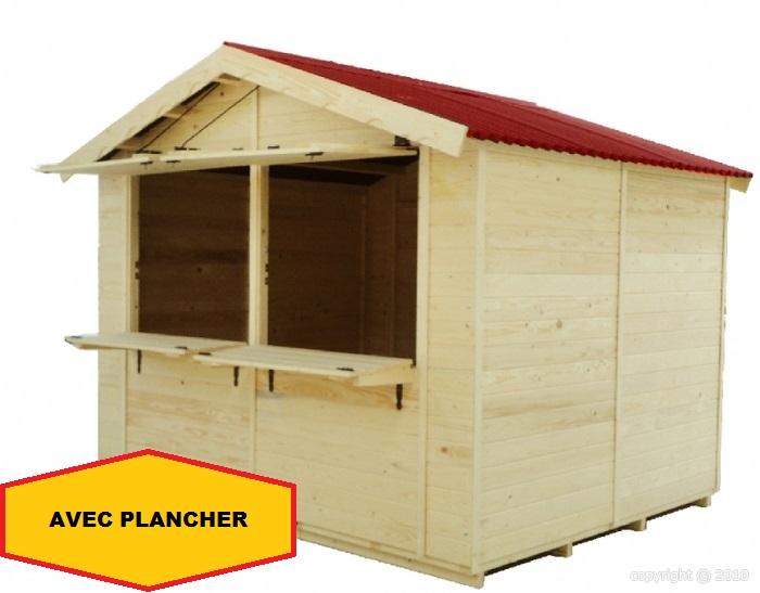Abri chalet de noel choppe marchande 3 15x2 74m 8 63m2 - Abri de jardin avec plancher pas cher ...
