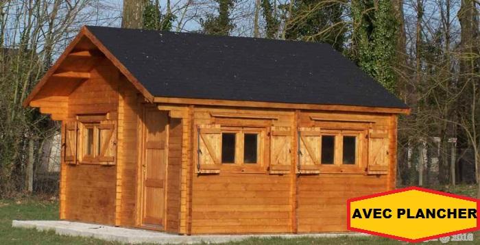 abri jardin bois chalet Magny Super 5x6 m 30m2 AVEC PLANCHER ...