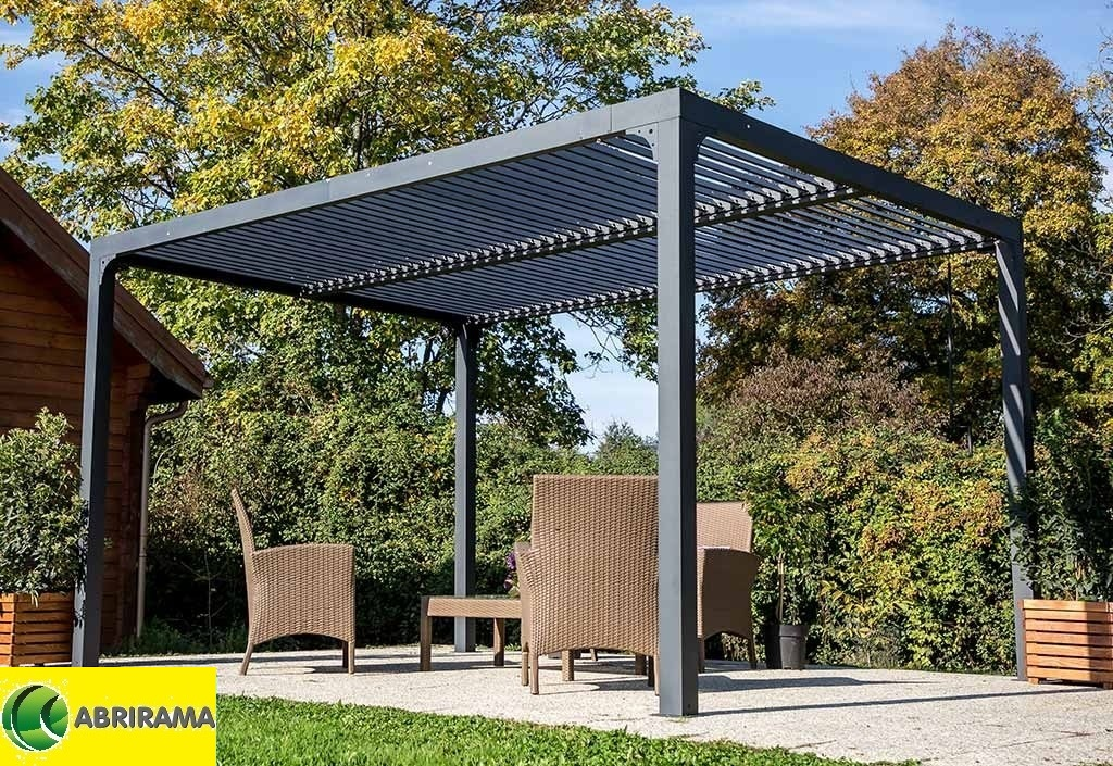 pergola bioclimatique r glable 3 60x3m en aluminium. Black Bedroom Furniture Sets. Home Design Ideas