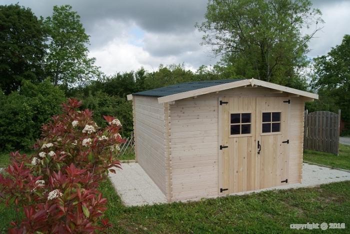 abri jardin bois Vendée 3,40x3,04m 10 m2 ABRIRAMA VD3330.02N ...